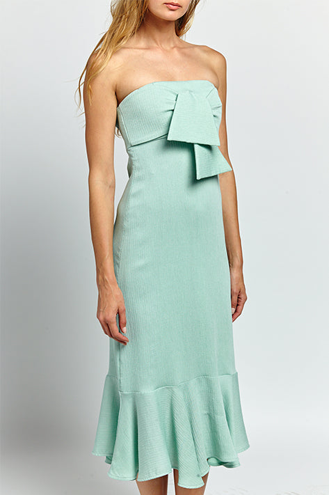 Jodhi Bow Strapless Dress