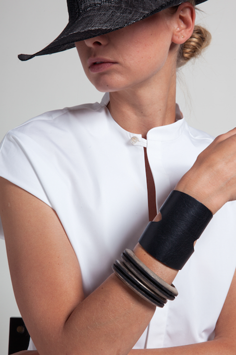Leather Cut Out Cuff