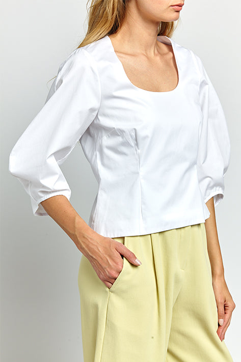 Marcela Structured Sleeve Top