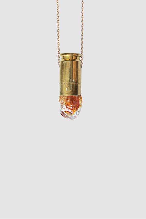 Medium Citrine Pendant Necklace