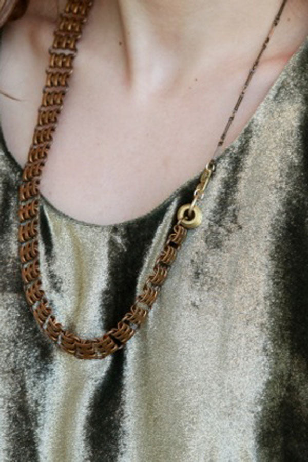 Vintage Railroad Chain Necklace