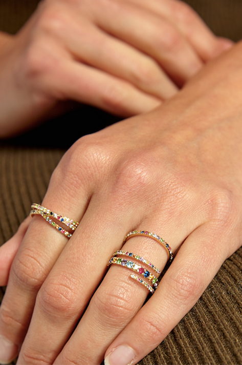 Multi-Colored Interlocking Rings