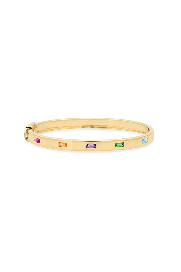 Multi Colored Five Baguette Bangle