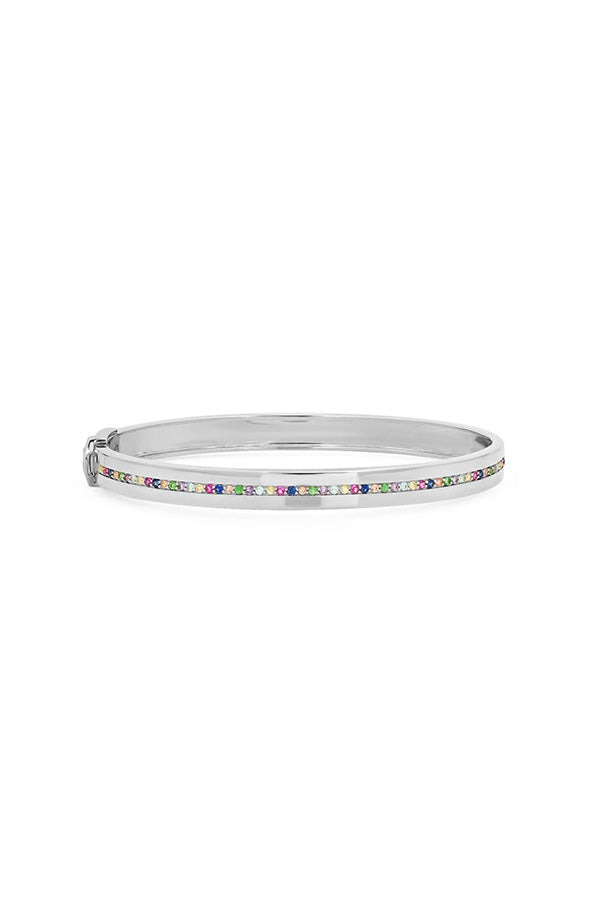 Multi Colored Row Bangle