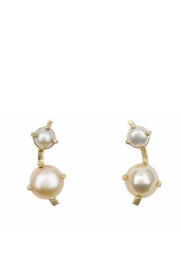 Large Muse Reflection Pearl Studs
