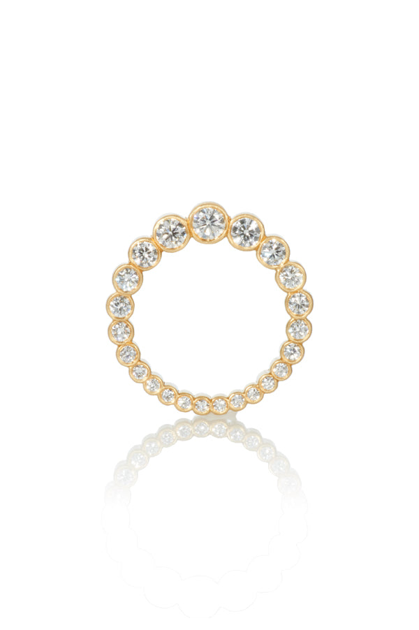 Double Sided Medium Diamond Ring