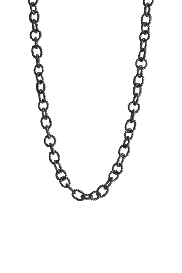 Oxidized Silver Link Chain