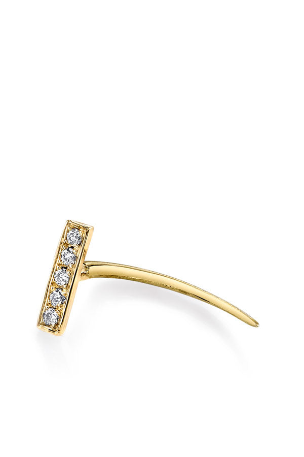 Pave Bar Infinite Tusk Earring