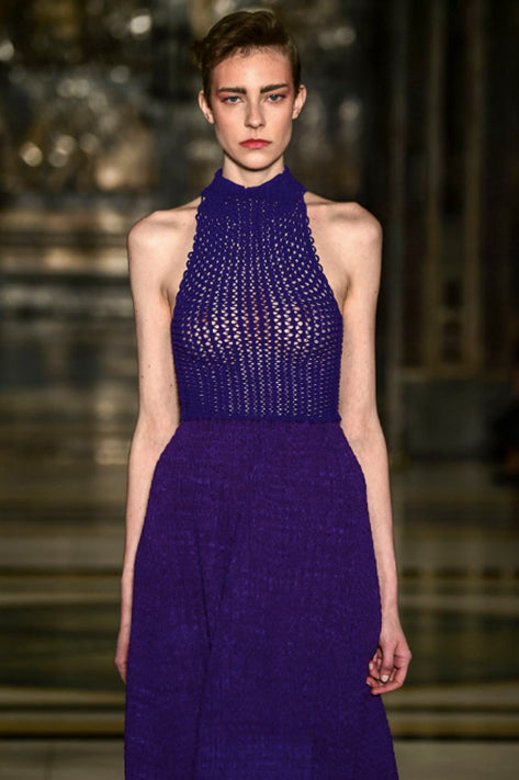 Purple A-Line Dress