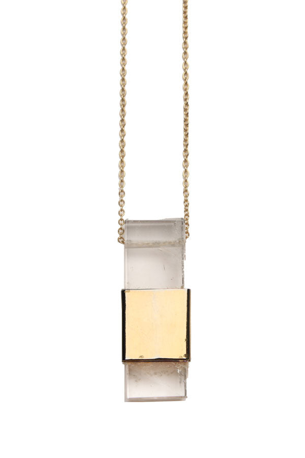 Rapt Hand-Cut Long Quartz Necklace