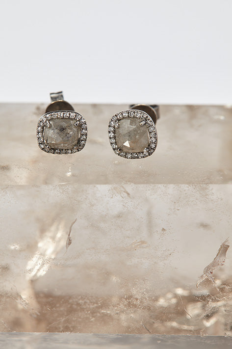 The Rough Cut Diamond Earrings