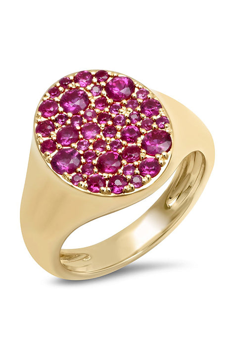Ruby Signet Pinky Ring