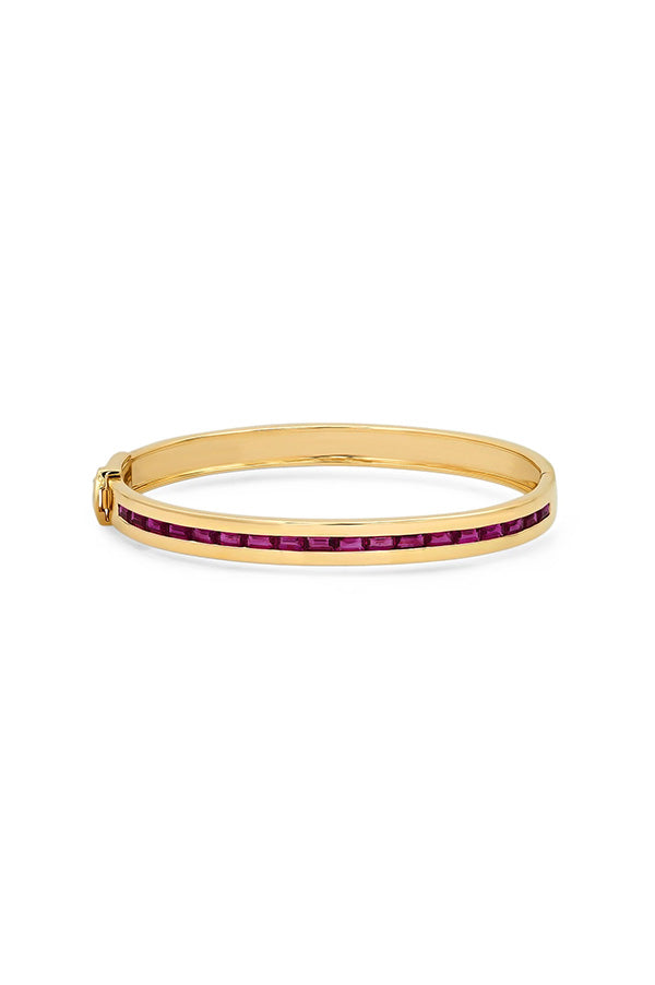 Ruby Baguette Row Bangle