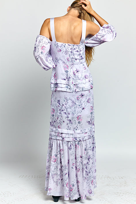 Simone Balloon Sleeve Maxi Dress