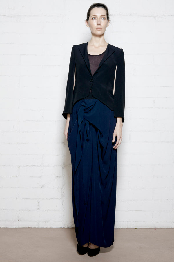 Front Wrap Long Skirt