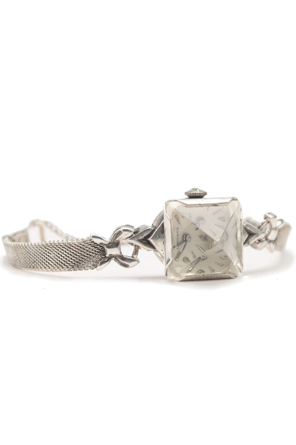 Small Oxidized Silver Prism Watch