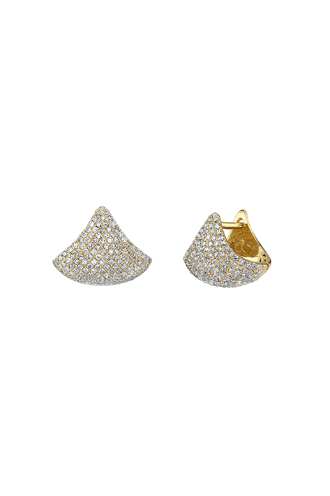 Small Apse Earring with White Pavé