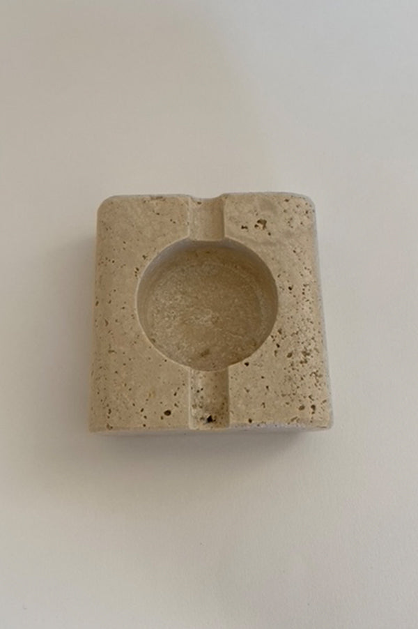 Vintage Small Travertine Ashtray