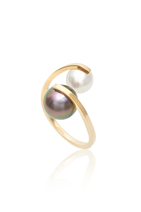 Spiral Pearl Ring