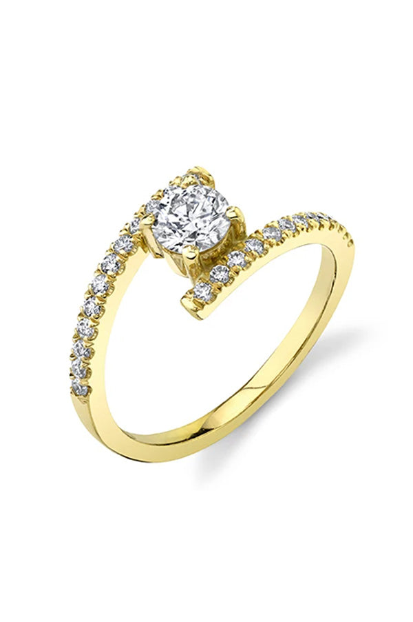 Split Shank Ring with Diamond Solitaire