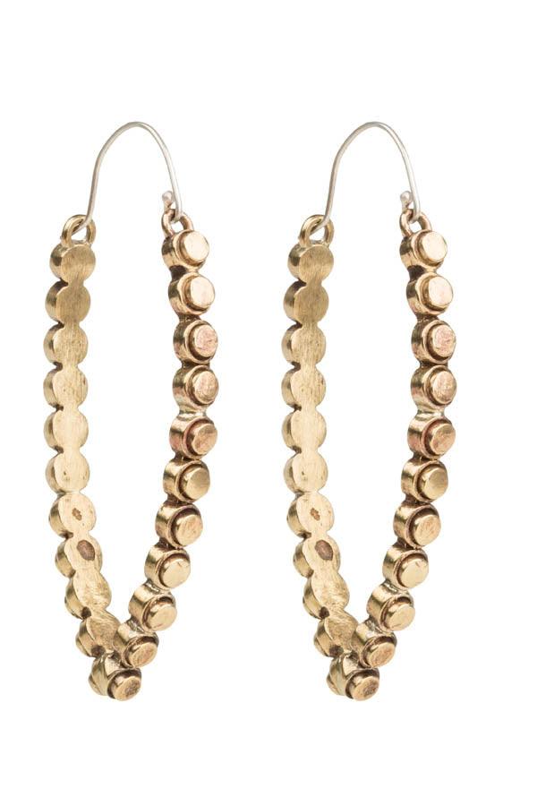 Suunta Elliptical Hoop Brass Earrings