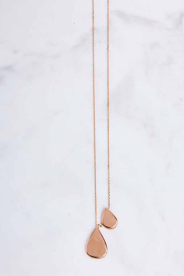 Teardrop Duo Necklace