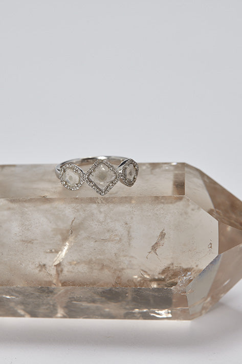 Triple Slice Diamond Ring