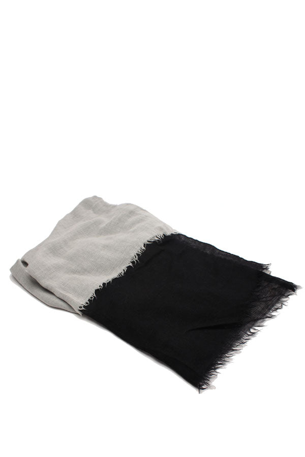 Two Tone Cashmere and Silk Fringe Scarf