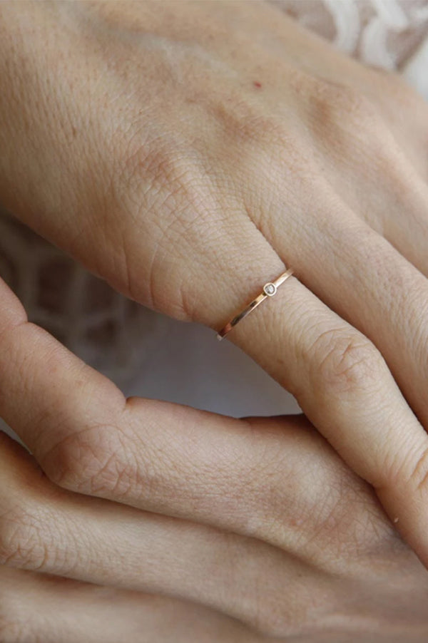 14K Mini Diamond Ring
