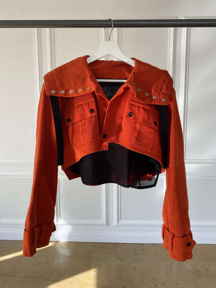 Burnt Orange Cropped Jacket