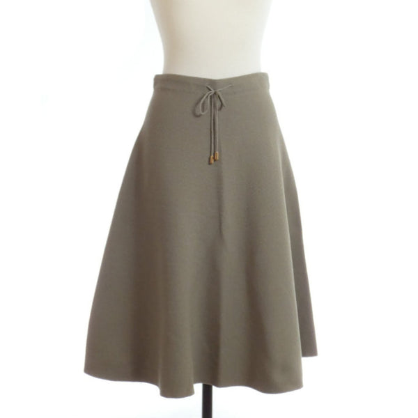 Cotton-blend Flare Skirt