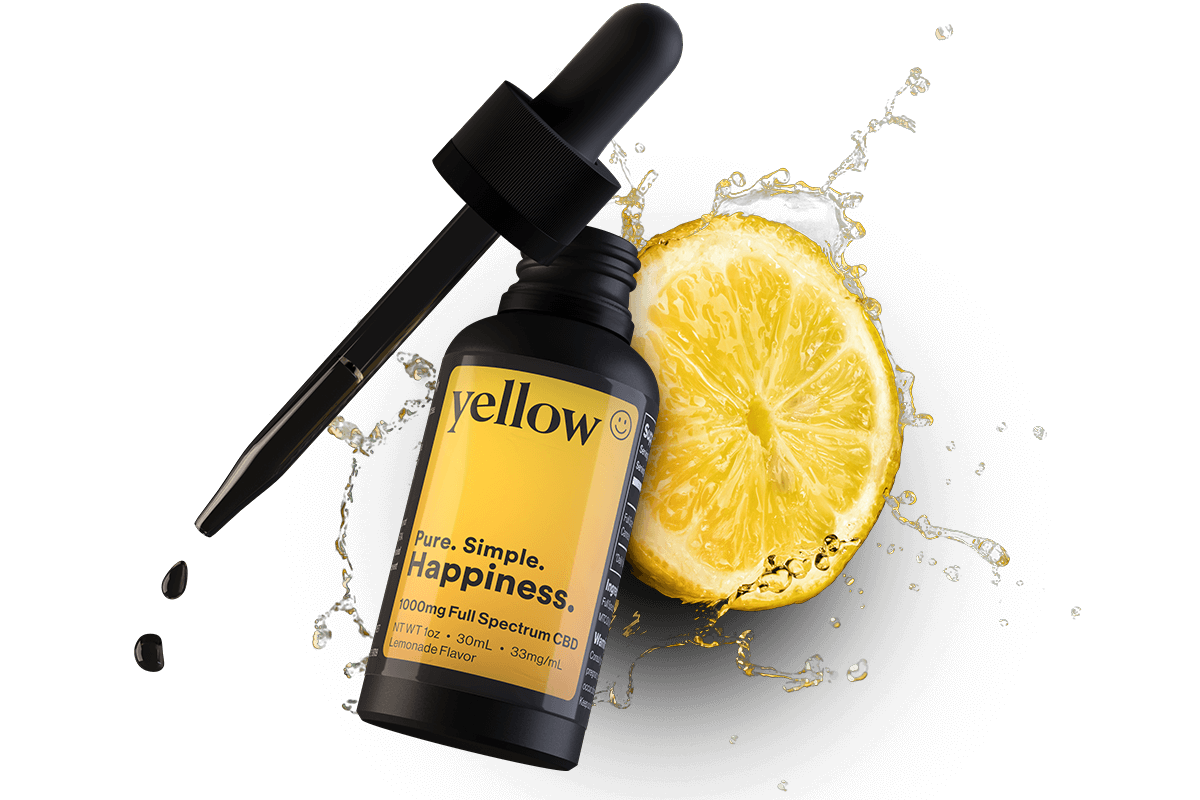 Full Spectrum CBD Oil 1000mg | Lemonade Flavor | Yellow CBD