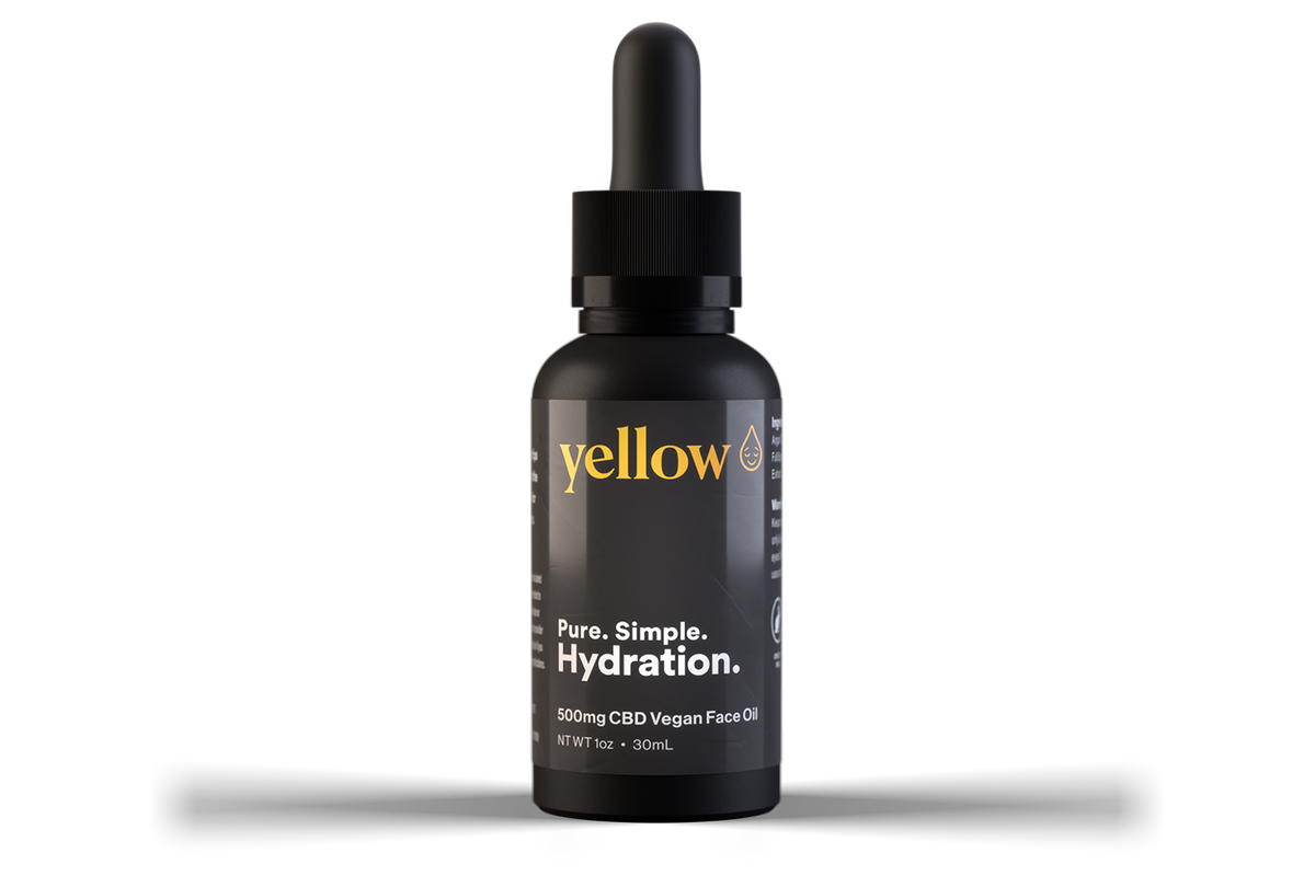 CBD Vegan face oil Yellow CBD