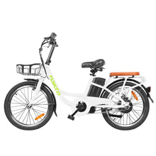 "Load image into Gallery viewer, NAKTO City Cargo Ebike 20"" PONY White - Pure Energy Bikes"