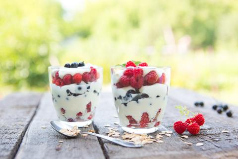 Berry Sheep's Yogurt Dessert