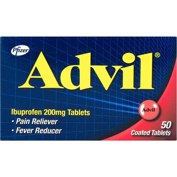 Advil Ibuprofen 200mg Pain Reliever/Fever Reducer Coated Tablets 50's