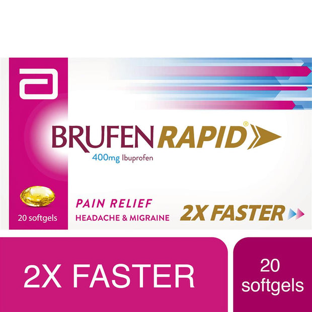 Brufen Rapid 400mg Softgels Capsules 20's