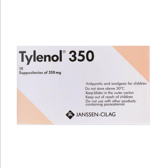 Tylenol Suppository 350mg 10's