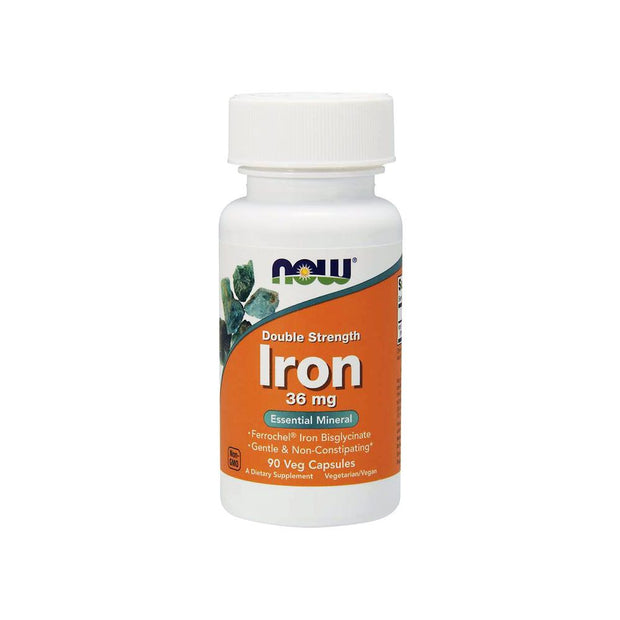 NOW® Iron 36 mg Double Strength 90 Veg Capsules