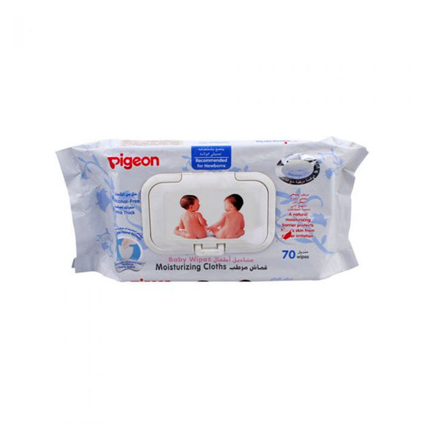 Pigeon Baby Wipes Moisturizing Cloths 70 Sheets
