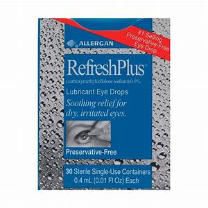 Refresh Plus Lubricant Eye Drops Single Use 30s