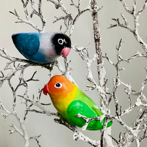 Clip-on lovebird ornaments