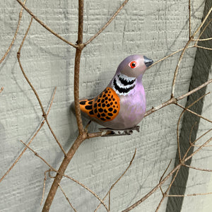 Clip-on turtle dove ornaments
