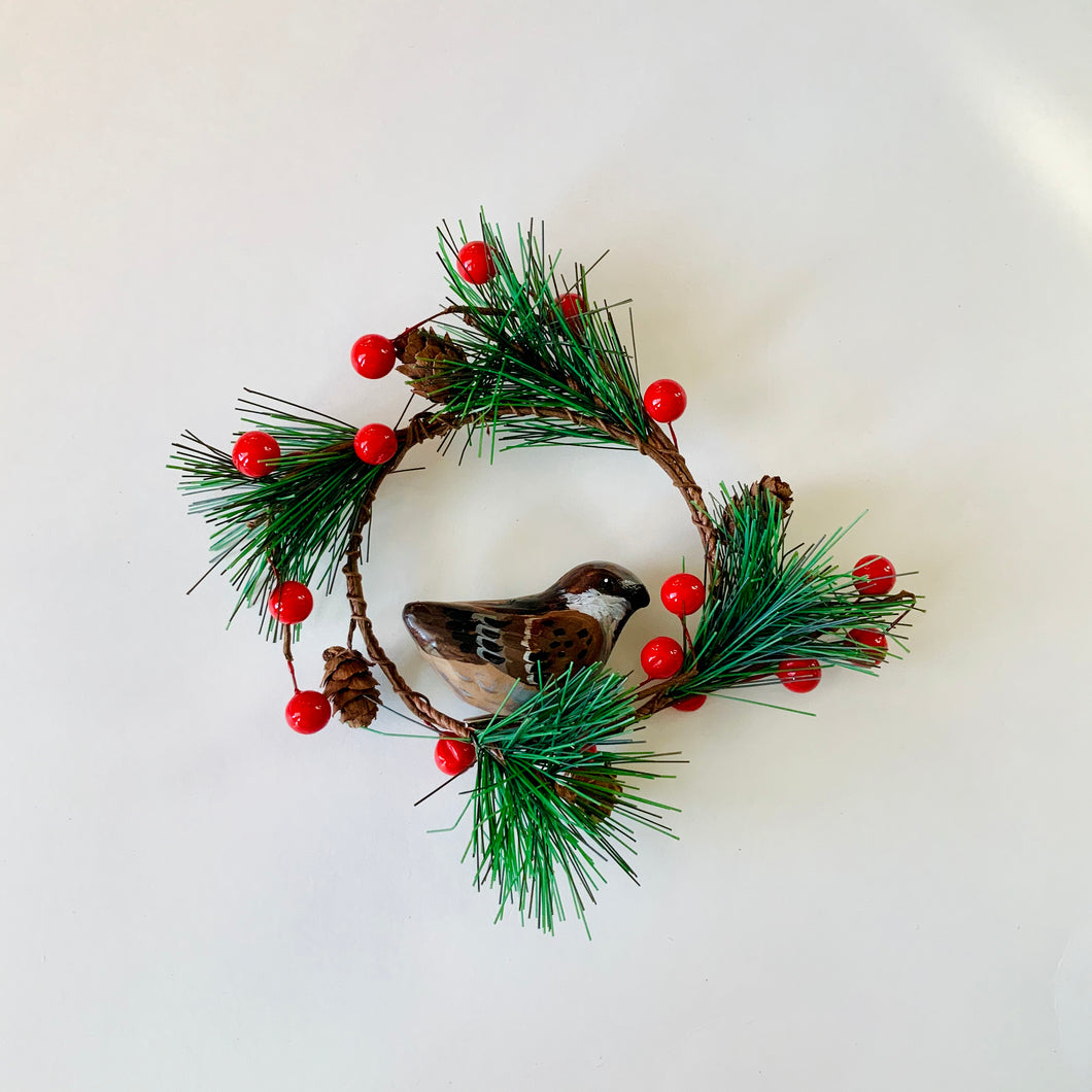 Mini Brown Sparrow Wreath