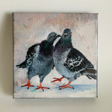 "Load image into Gallery viewer, ""Kiss"" - 8 x 8 inches - Ready to hang canvas print"