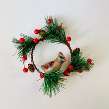 Load image into Gallery viewer, Mini Beige Cardinal Wreath