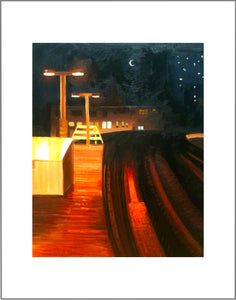 """Waiting for a Train"" print"