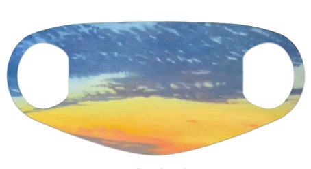 "Face Mask - ""Sunset Clouds"""