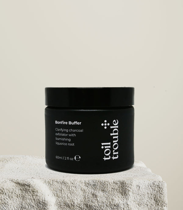 BONFIRE BUFFER | Charcoal face scrub with burnishing liquorice root