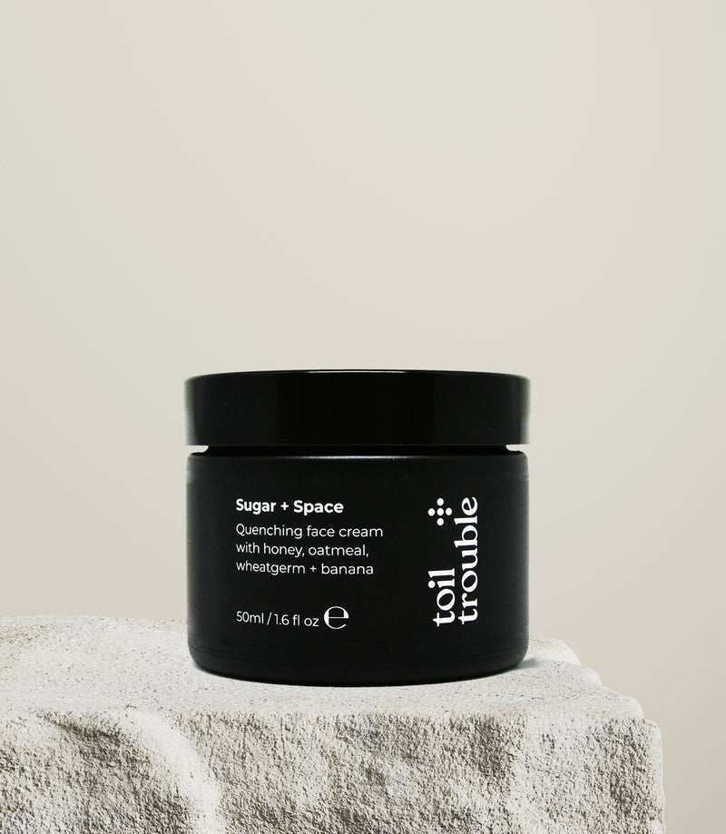 SUGAR + SPACE | rich face cream with honey, wheatgerm, oatmeal + banana
